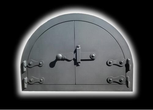 félköríves kemence ajtó